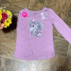 ⭐️NEW⭐️ children'a place unicorn shirt